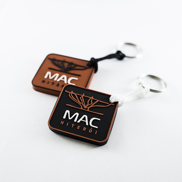 Chaveiro emborrachado MAC Niterói relevo