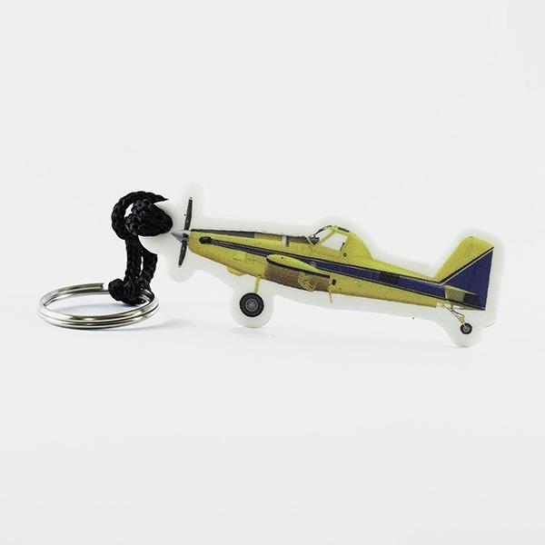 chaveiro emborrachado avião alto cromia