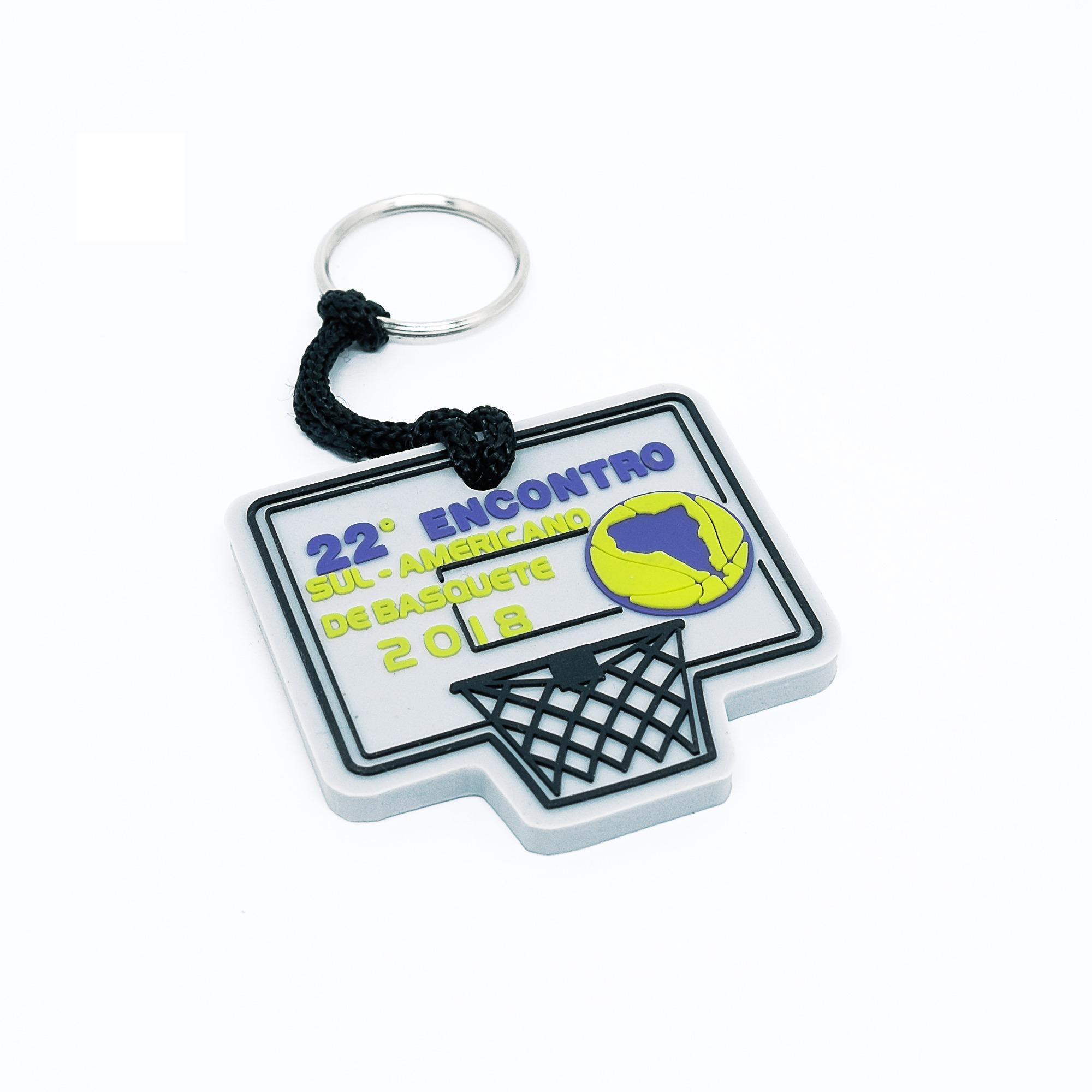 chaveiro emborrachado basquete bauru cestinha relevo