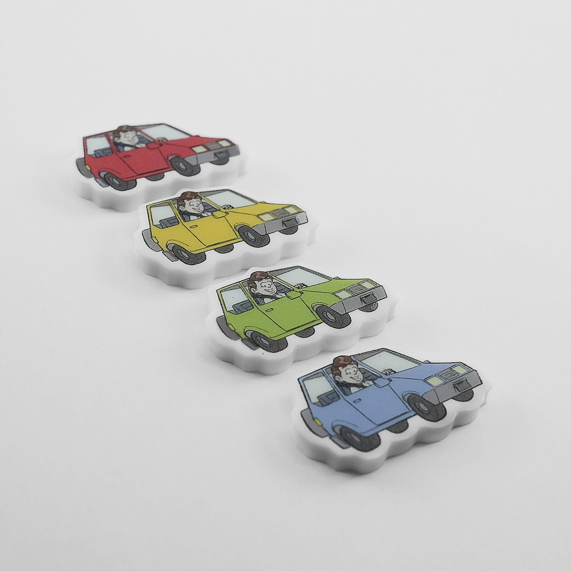 chaveiro emborrachado carro várias cores cromia