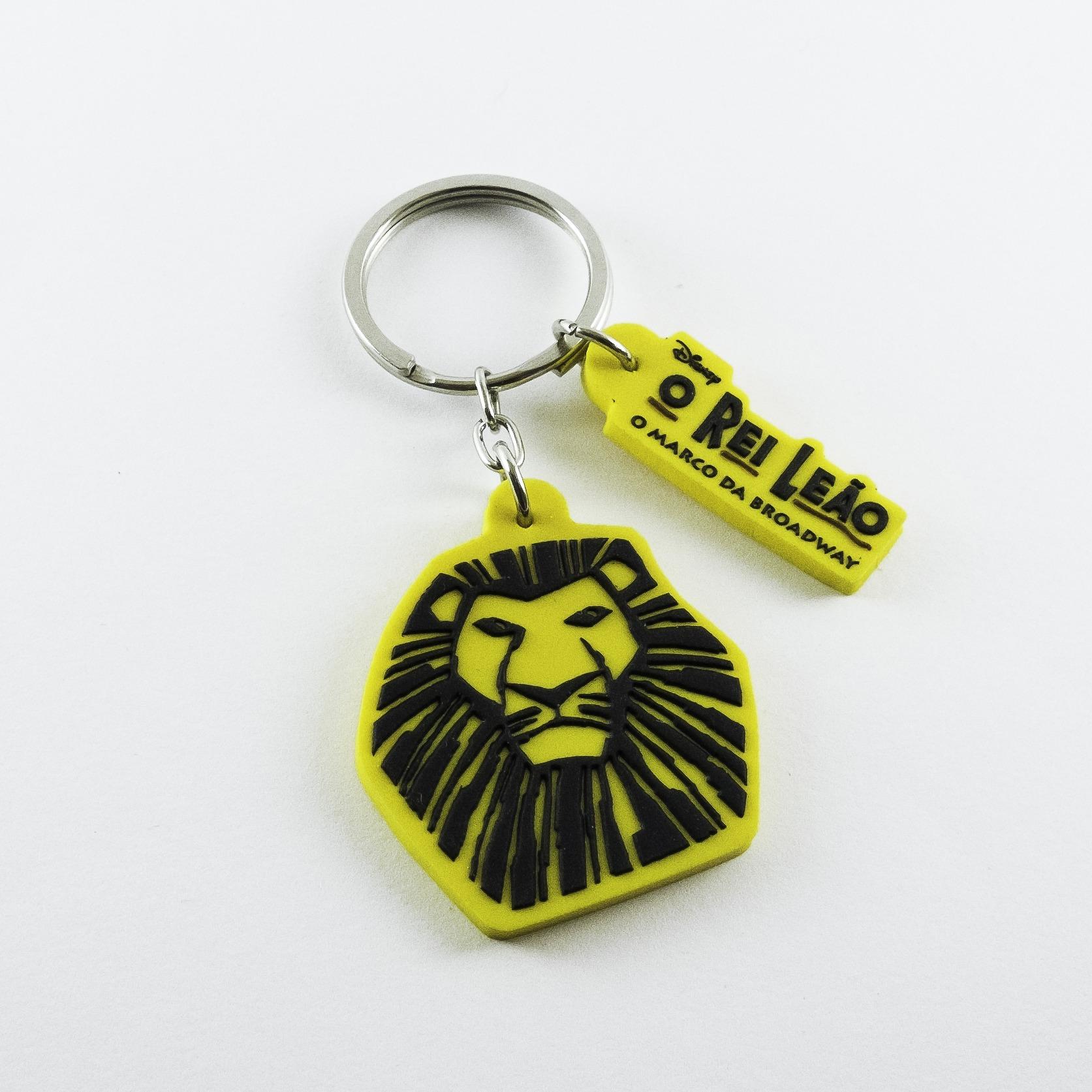 chaveiro emborrachado rei leão disney relevo