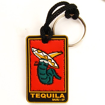 chaveiro emborrachado tequila relevo